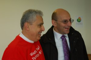GJ Tarazi (left) and Rev. Mitri Raheb at the Waging Peace in Palestine and Israel Conference