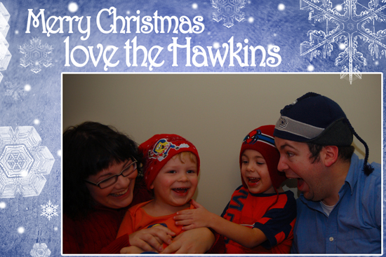 Hawkins xmas picture