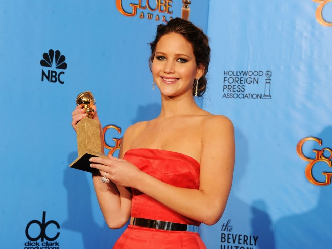 Jennifer Lawrence After Her Golden Globe Win