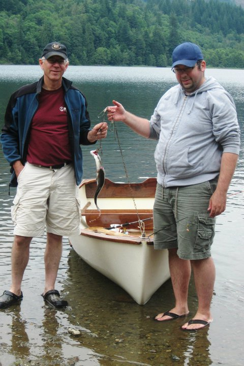 Murray and I With My First Catch Of Rainbow Trout
