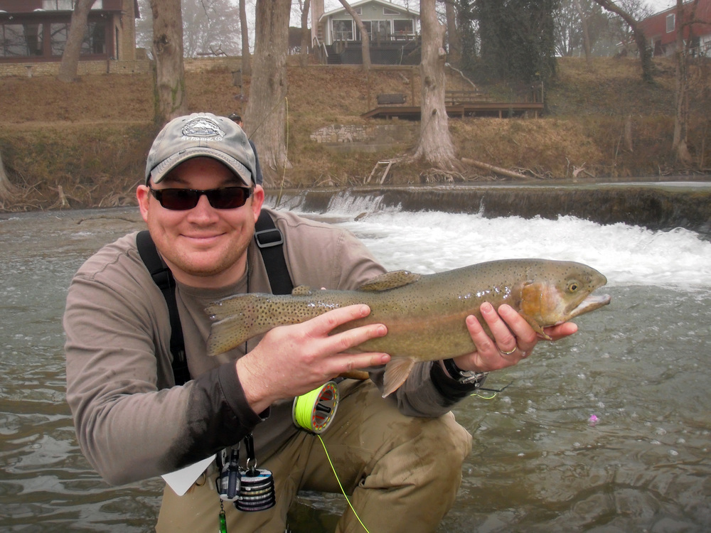 Eric Burnett with a nice Guadalupe River trout