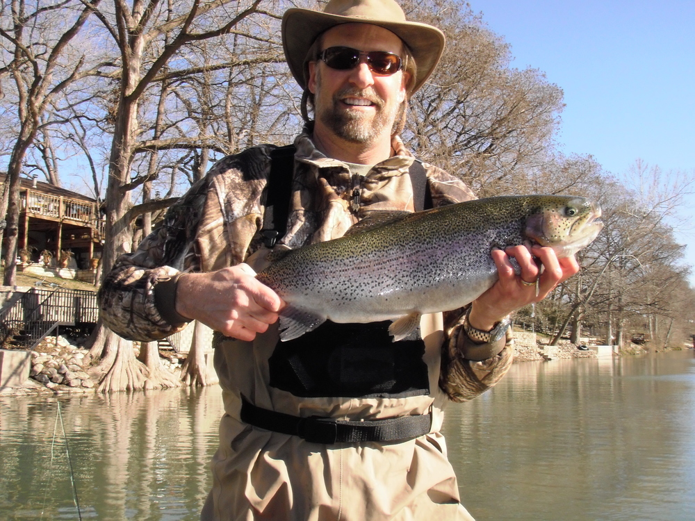 Bruce's best of the day a huge trout from the Guadalupe River