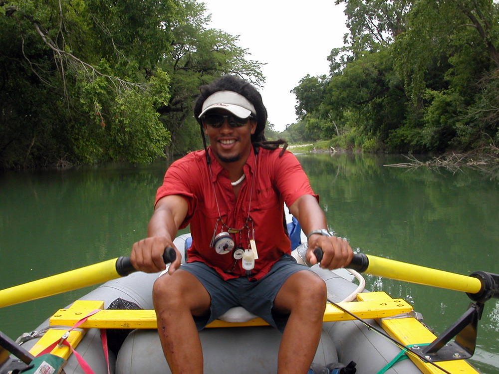 Alvin on the San Marcos River July 2003