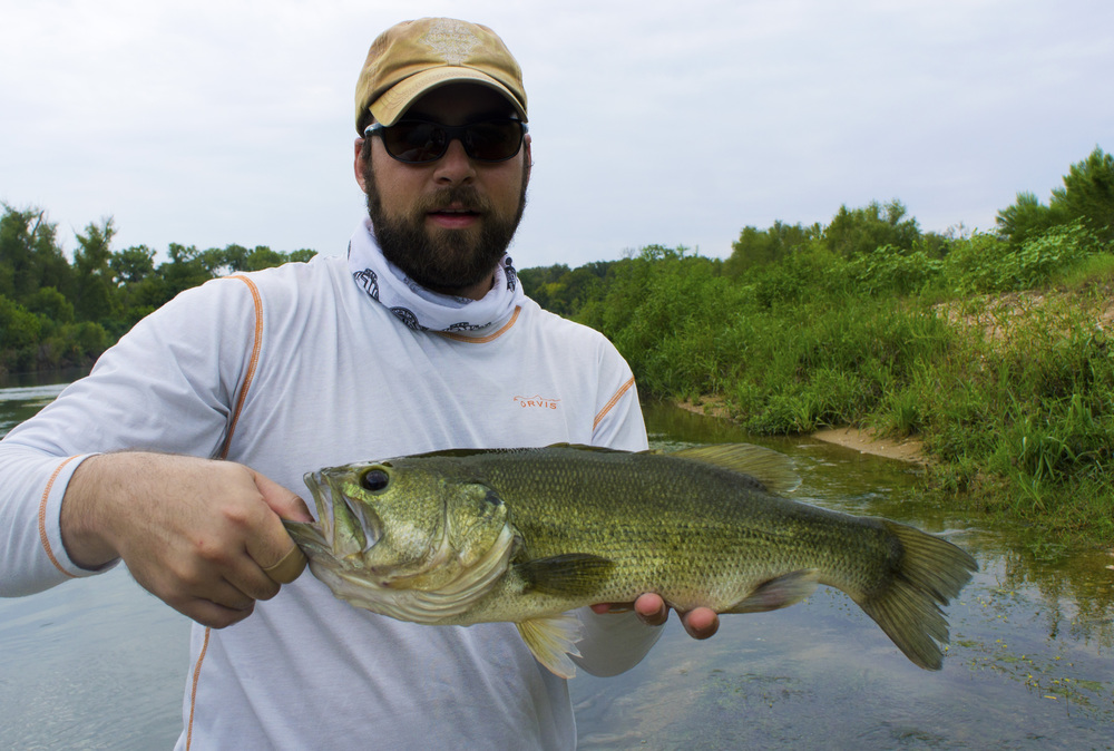 Jeff with a Colorado River largemouth bass