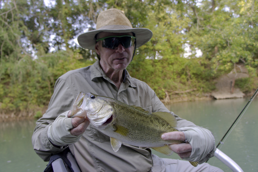Ron Linehan with a San Marcos River bass