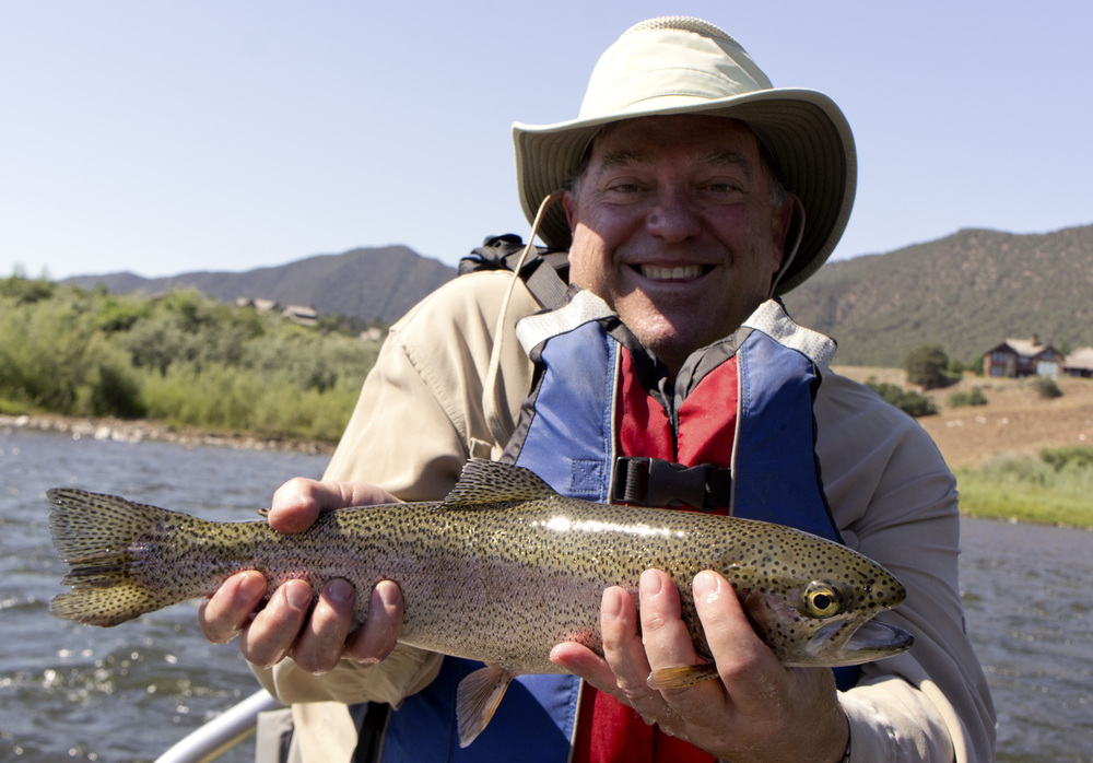 David Friedman with a Roaring Fork rainbow trout