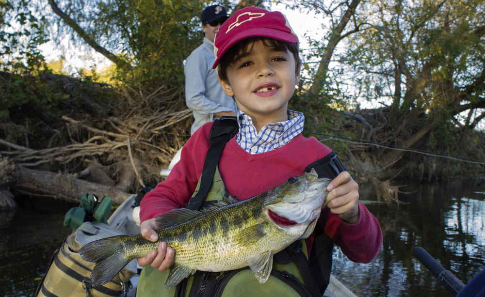 Luke with a Colorado River Guadalupe Bass