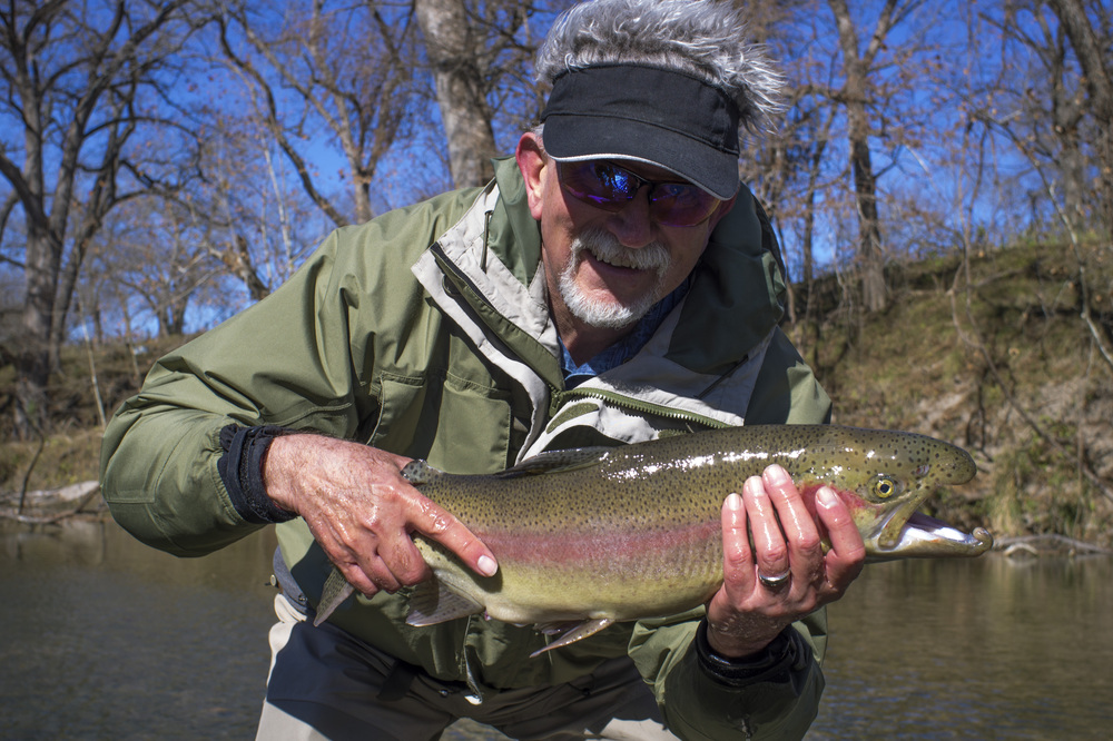 Eddie with a big Guadalupe River trout