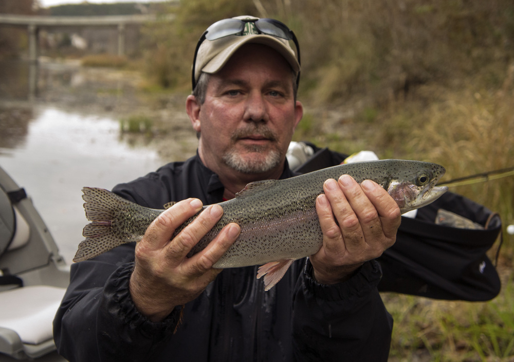 David Potts with a Guadalupe Trout