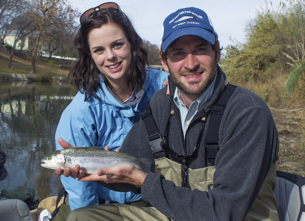 Suzanne and Steven with a Guadalupe Trout