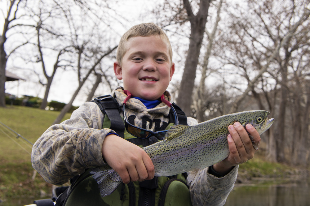 Seth with a nice Guadalupe Trout