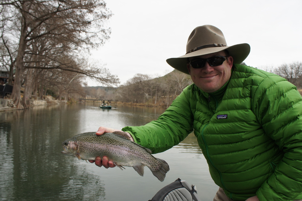 Eric with a nice Guadalupe Rainbow Trout