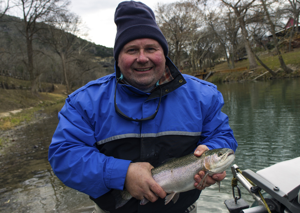 Bob with a Guadalupe River Trout