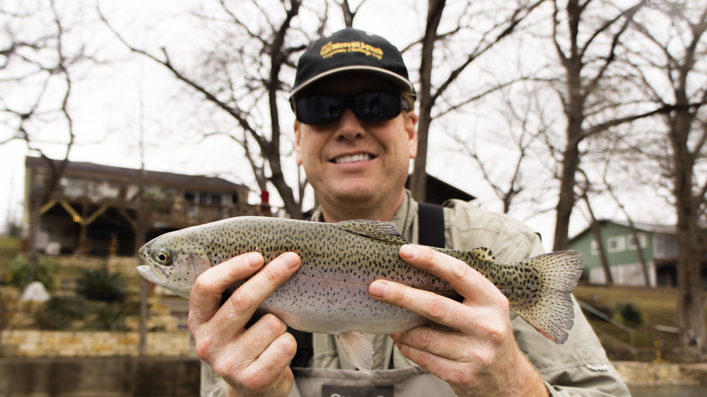 Michael with a Guadalupe River Rainbow