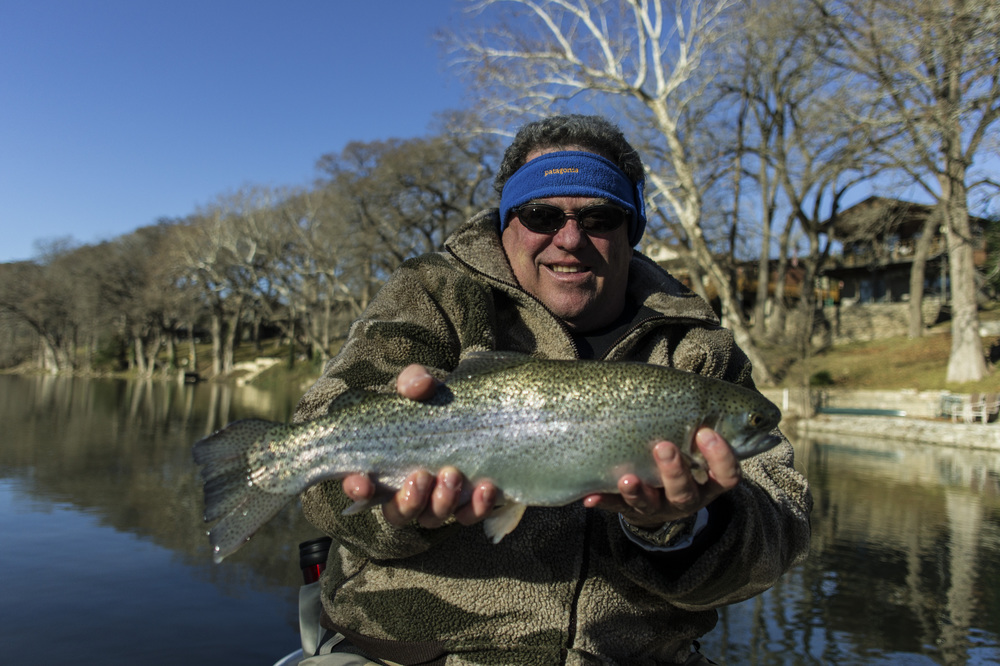 David Friedman with a Guadalupe River Rainbow Trout