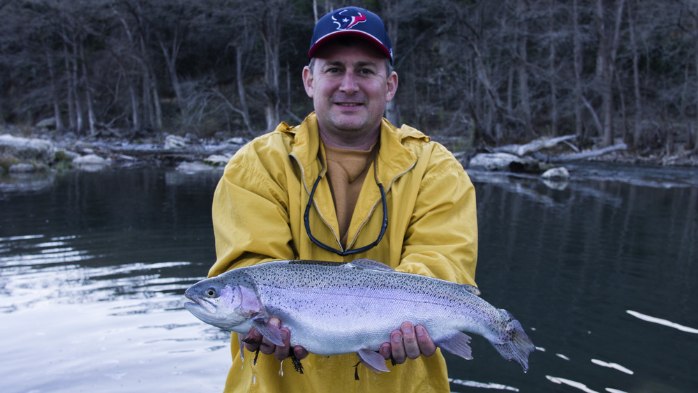 Wade with a huge Guadalupe River Trout