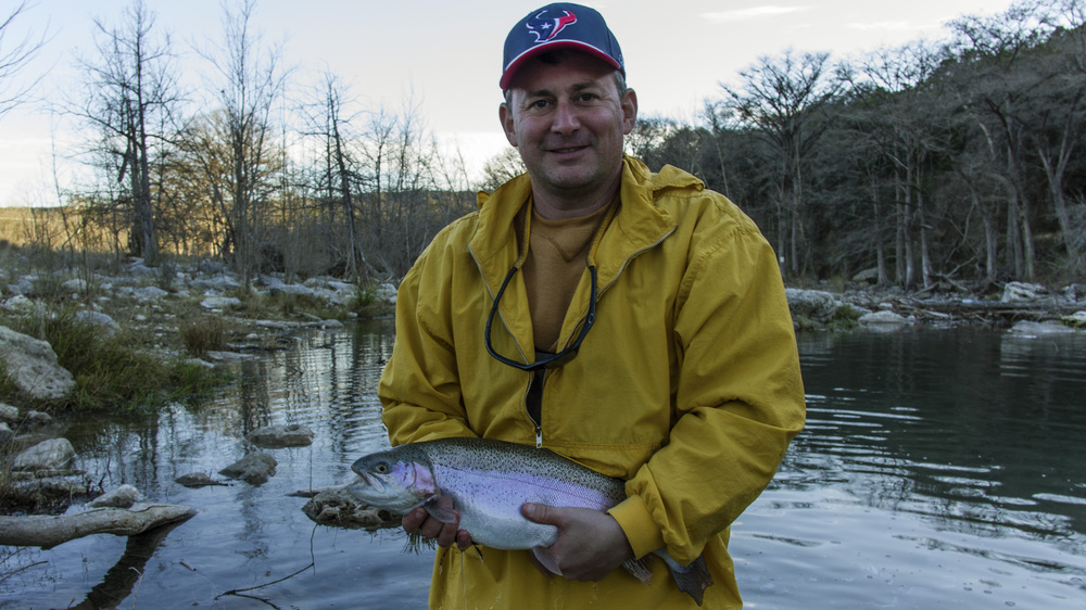 Wade with a Guadalupe Rainbow