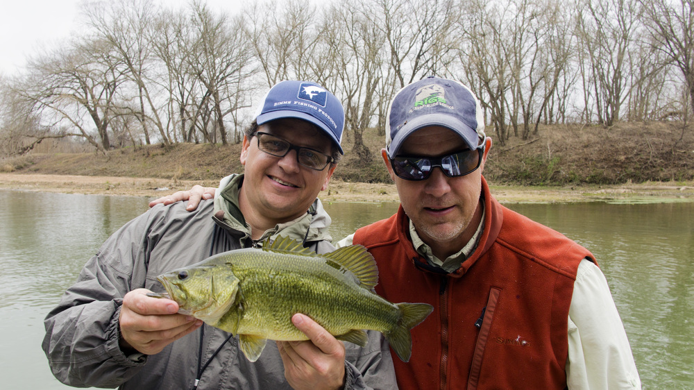 Shea and Jeff with a Colorado River Bass
