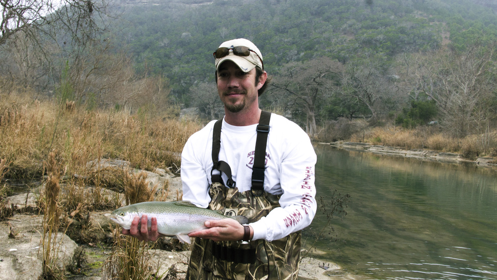 JC with a nice Guadalupe Trout