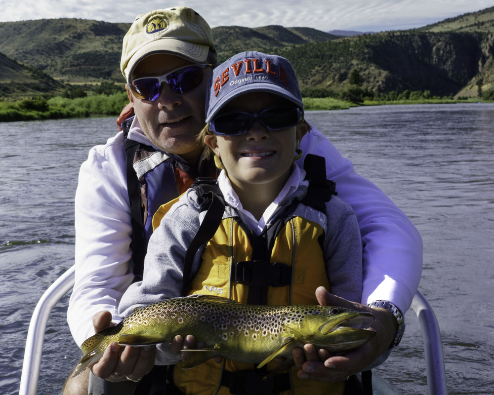 Father and Son Brown Trout