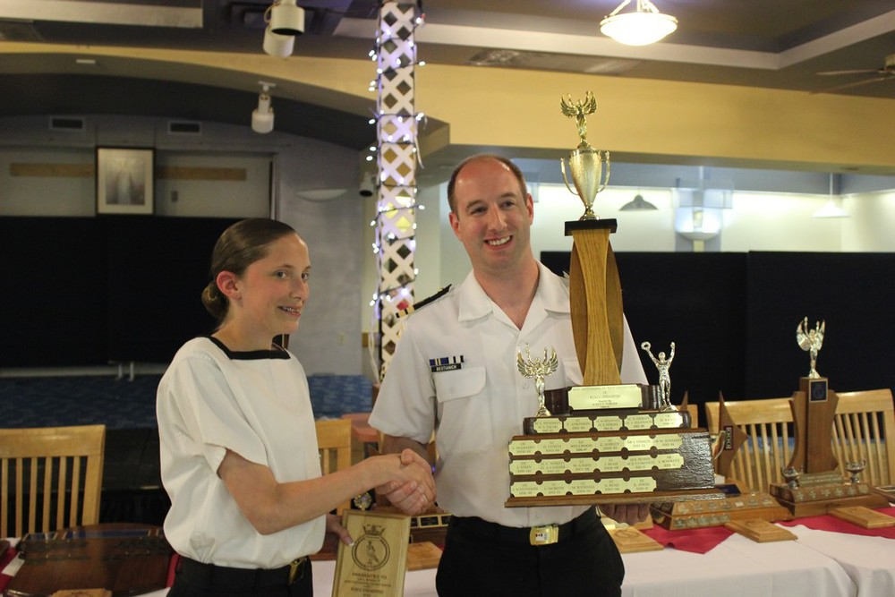 Most outstanding ex-Navy League Cadet - AB Bowkett
