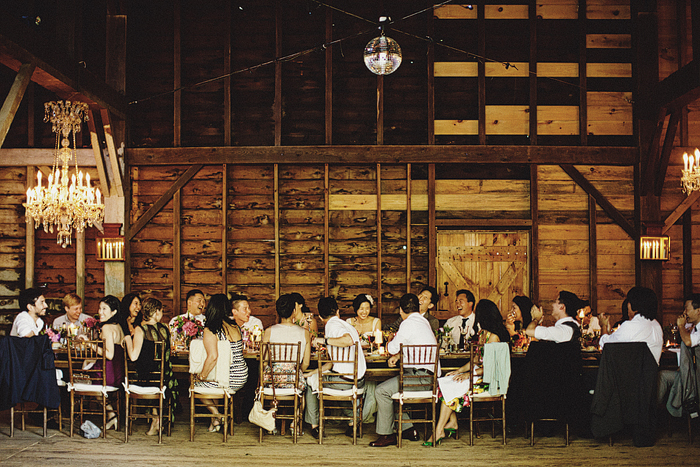 guests at barn reception
