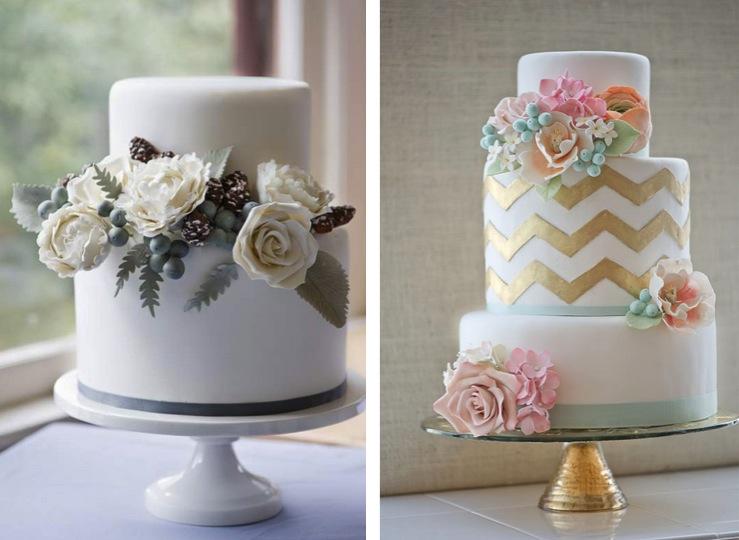 ericobrien-wedding cakes-gold cake-floral-pastel cake