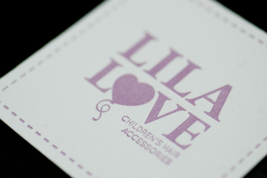 Lila Love Letterpress Business Cards