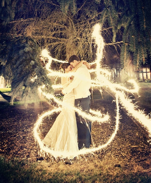 Long-exposure-Shot-With-Sparklers