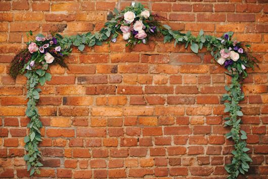 hanging flower garland