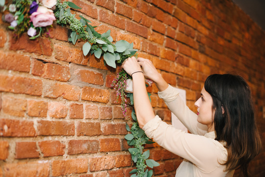 making hanging flower garland