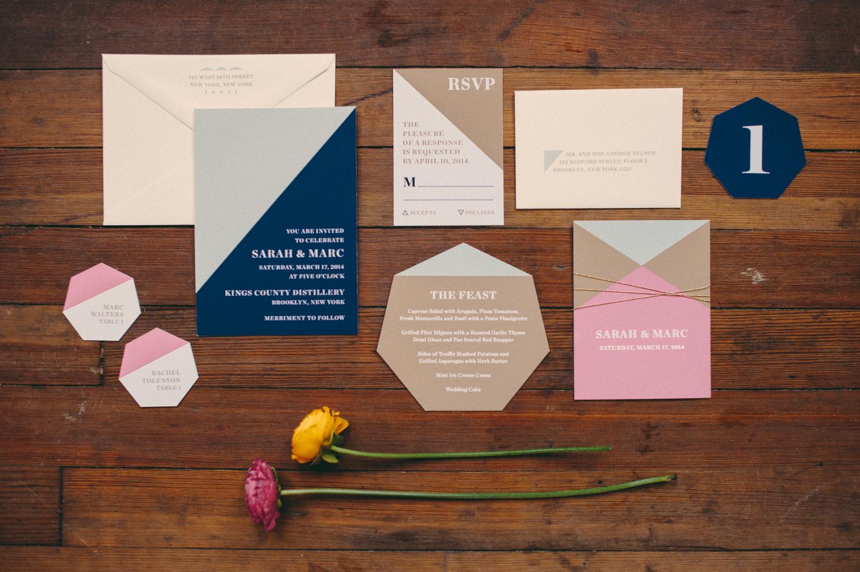 Fourteen Forty Geometric Wedding Invitations 01