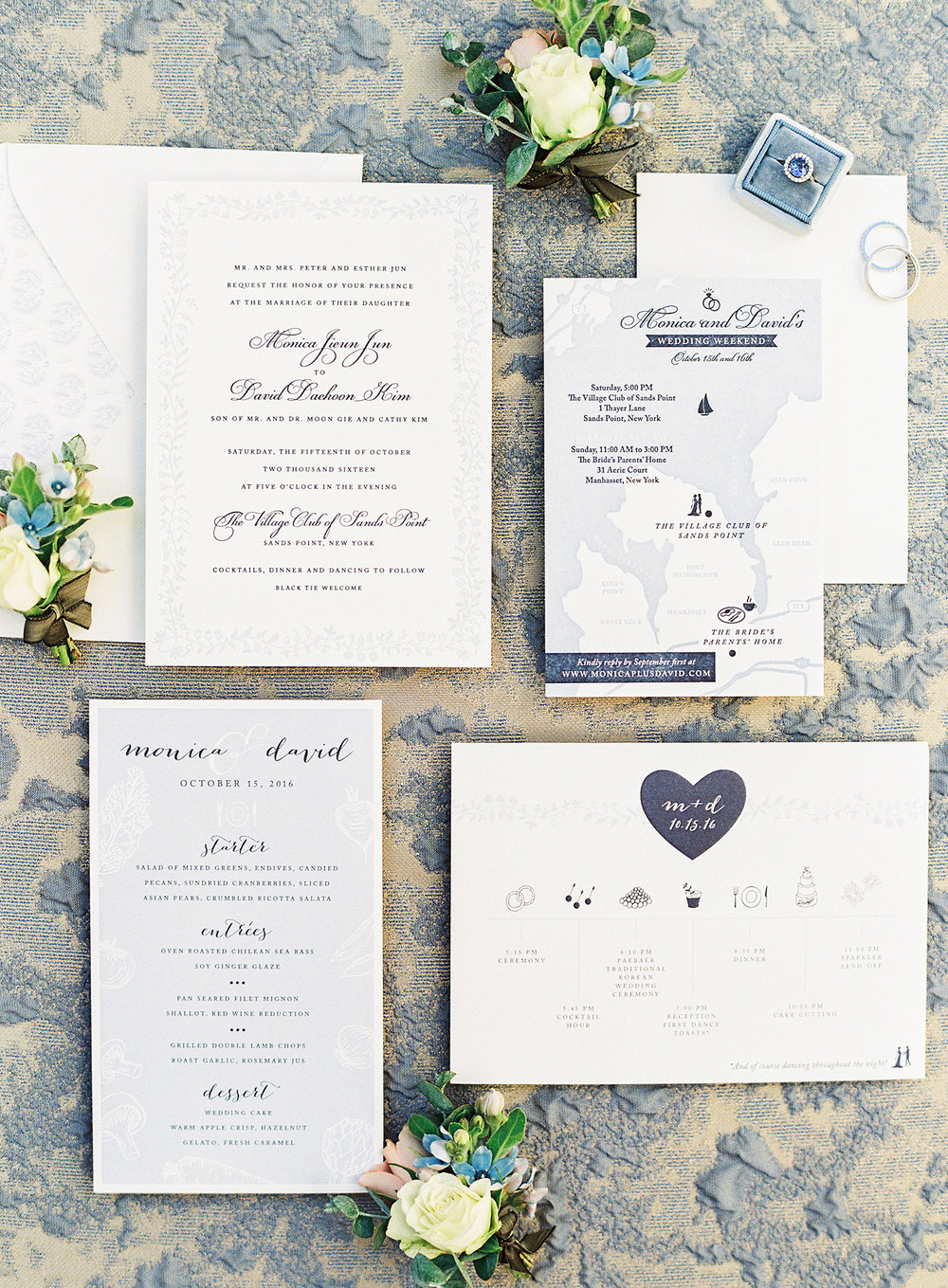 Dreamy Fall Wedding in Pale Pink and Blue — Fourteen-Forty: Custom ...