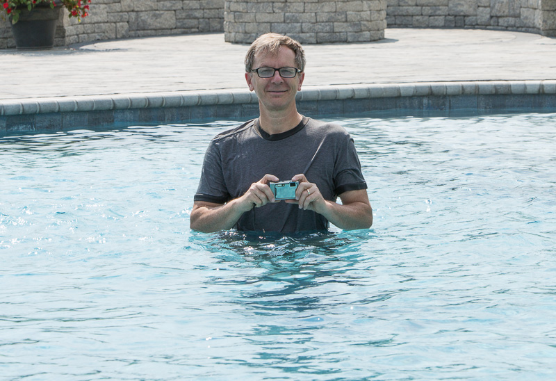 Greg exploring potential camera angles.