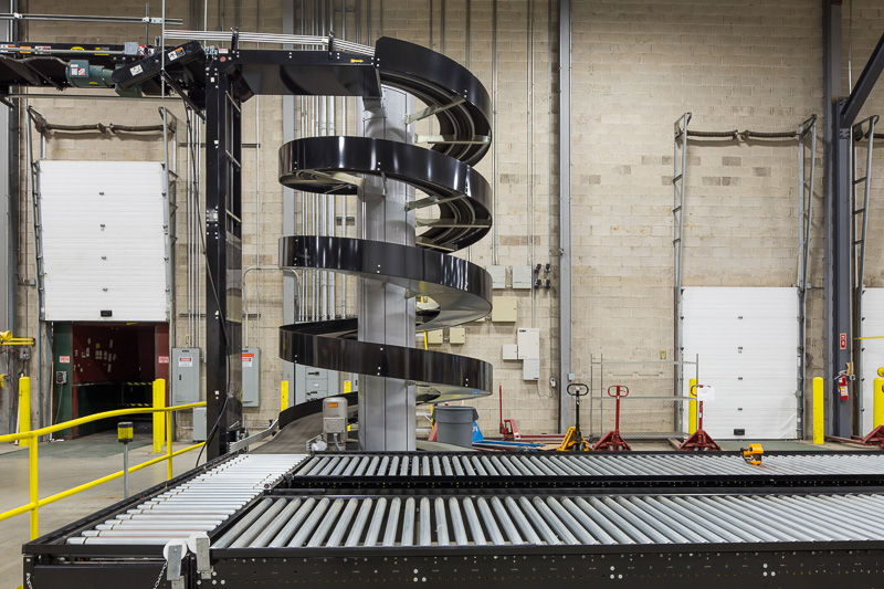 Many warehouses are automated, and can be operated by only a few employees.