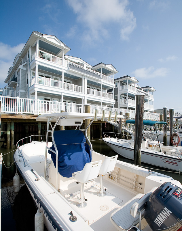 Docks are located right outside your door.