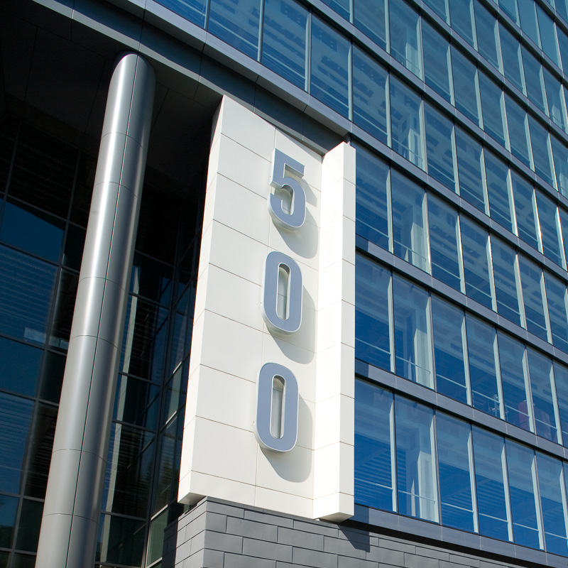 The street address is hard to miss.
