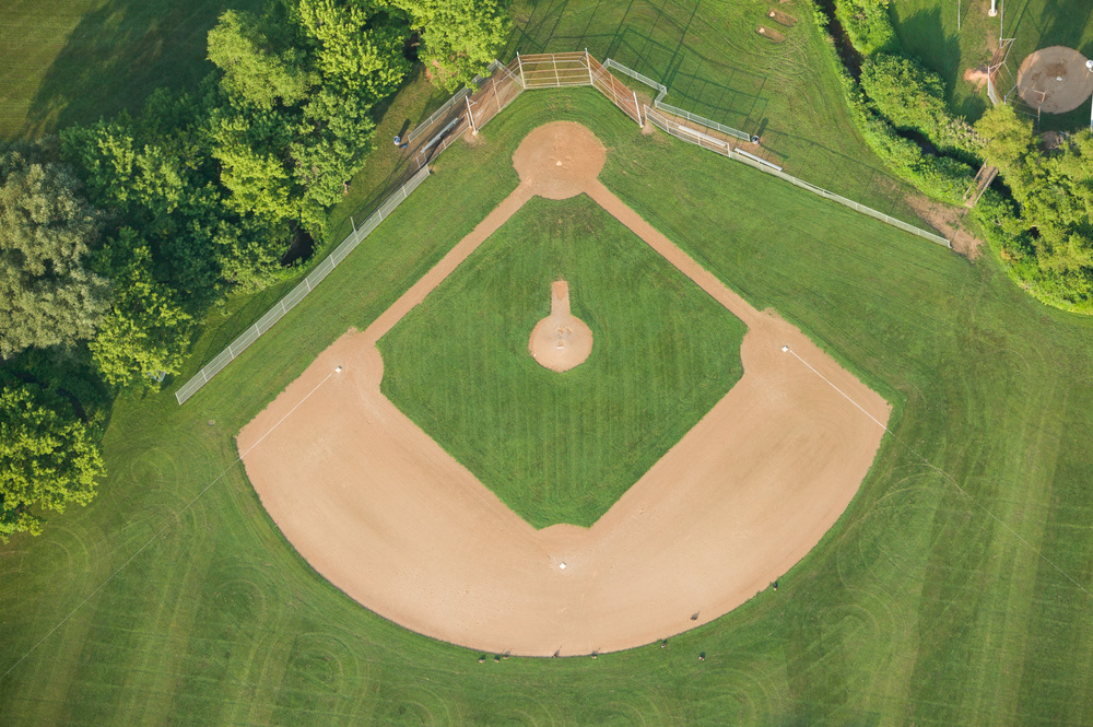 A well manicured field in the western suburbs of Philadelphia.