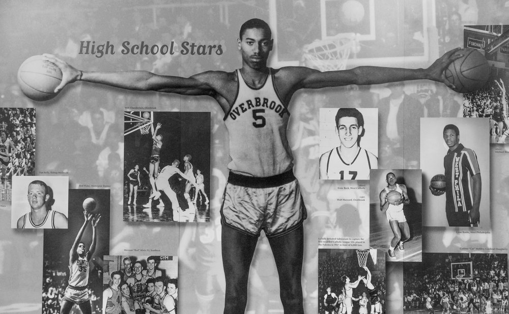"The venue's history is celebrated along its concourse.  As a high schooler, Wilt Chamberlain played for the Philadelphia city championship at the Palestra.  He was 6' 8"" by the 8th grade."