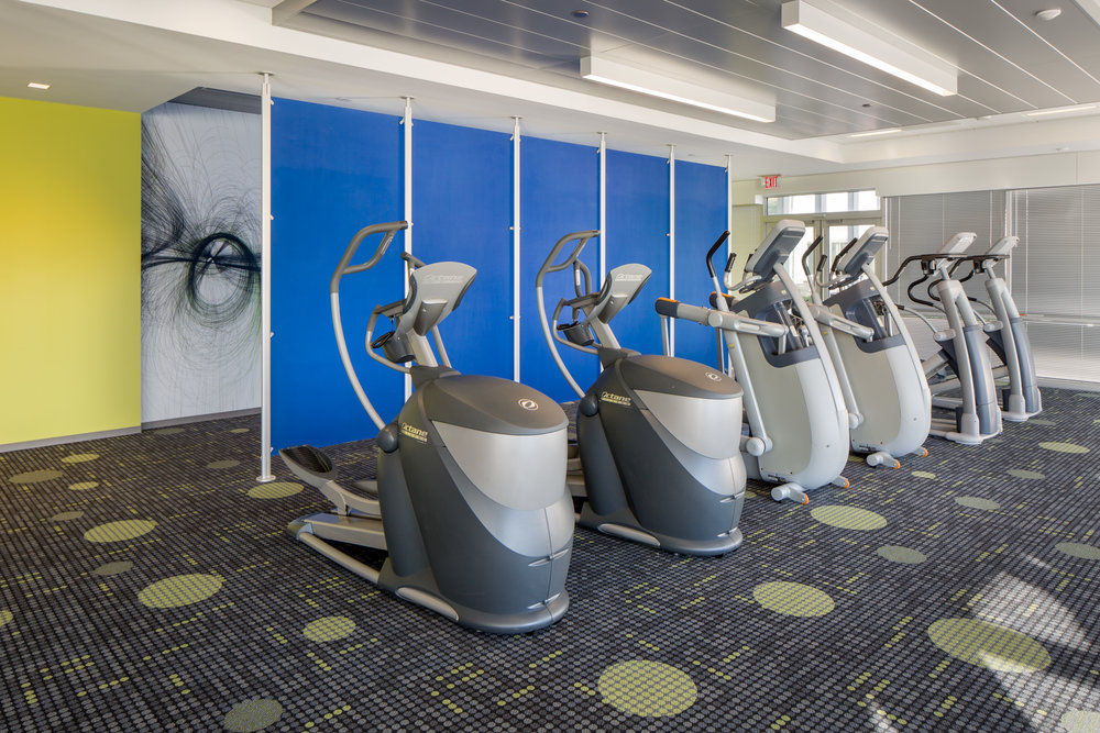 At Endo Pharmaceuticals, wellness extends to the on-site fitness center.