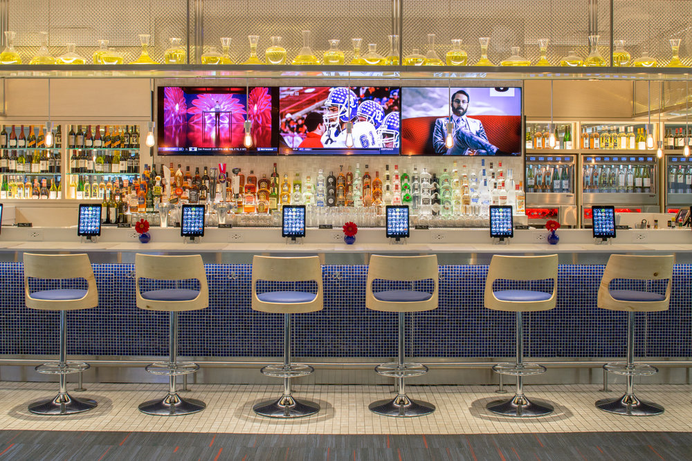 Dine and dash. Baba Bar, an on-the-go bar and noshery at Philadelphia airport.