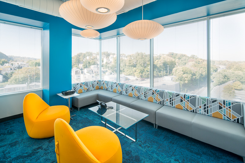 Corporate yet casual color compliments a great view.