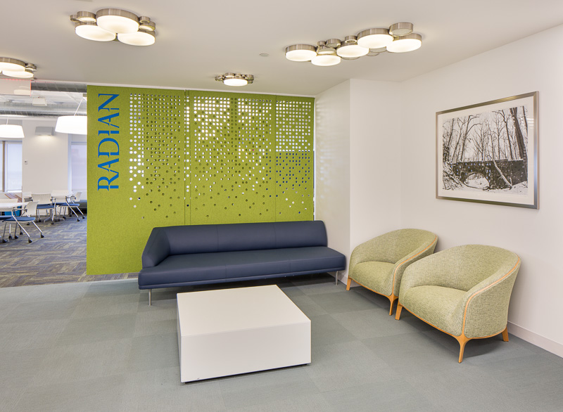 people seem to take more chances with bold design in office spaces, rather than residential.