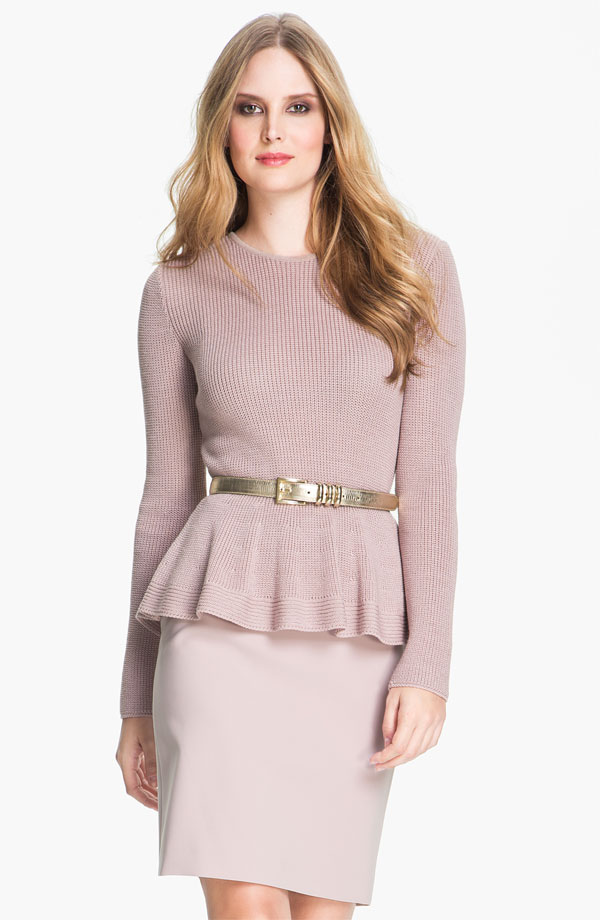 St. John Collection Crewneck Peplum Sweater - $495 at Nordstrom.jpg