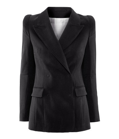 MAISON MARTIN MARGIELA. Fitted, double-breasted blazer - $99 at H&M.jpg