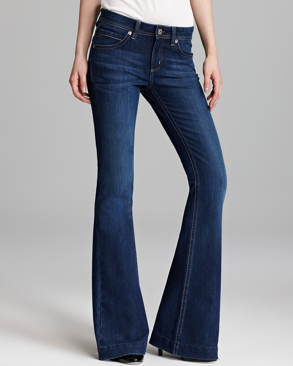 DL 1961 JEANS Joy Mid Rise Kick Flare In Nirvana $168