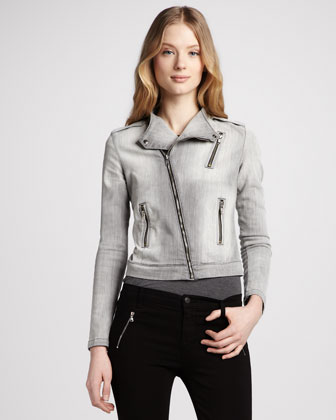 J BRAND JEANS Denim Motorcycle Jacket $378