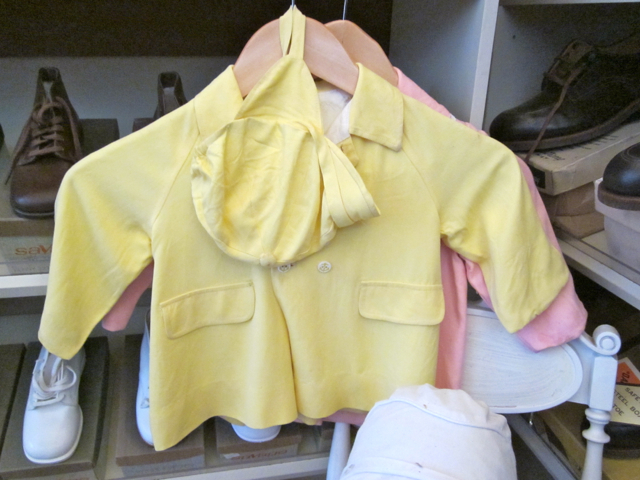 Yellow outfit for an infant