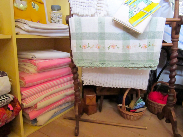 Sheets and blankets in the general store