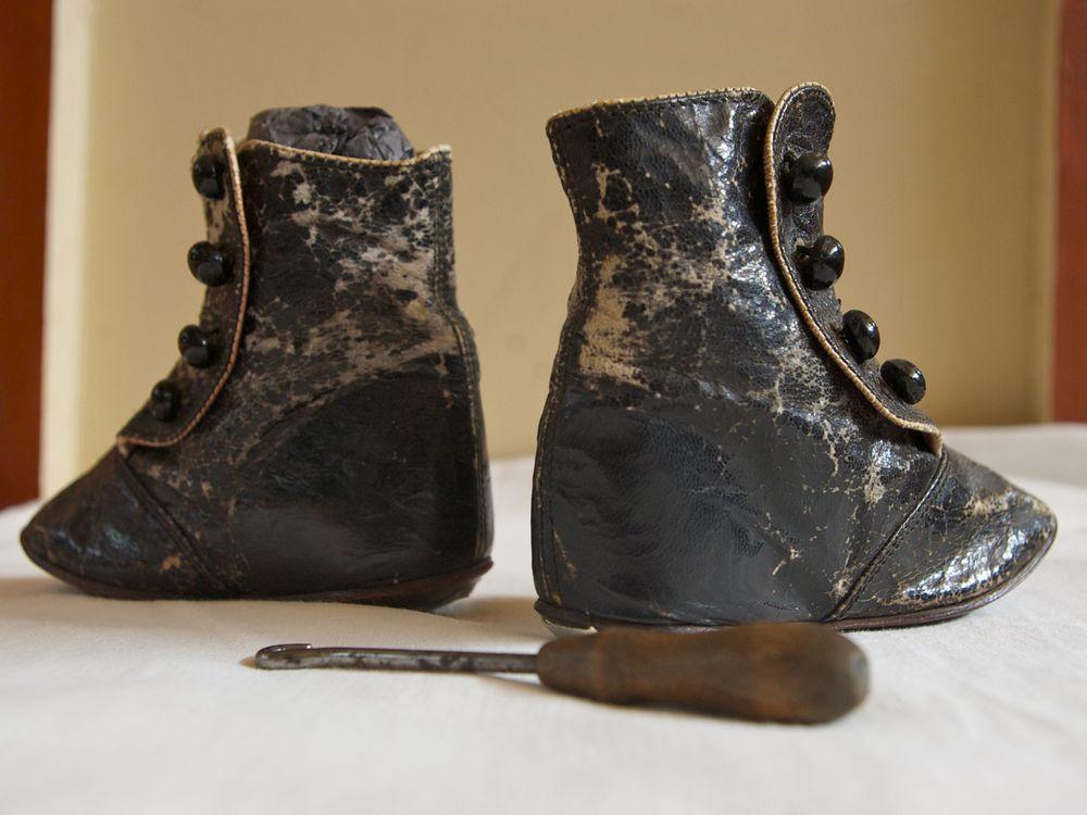 Harper Rollins's baby boots, circa 1884.